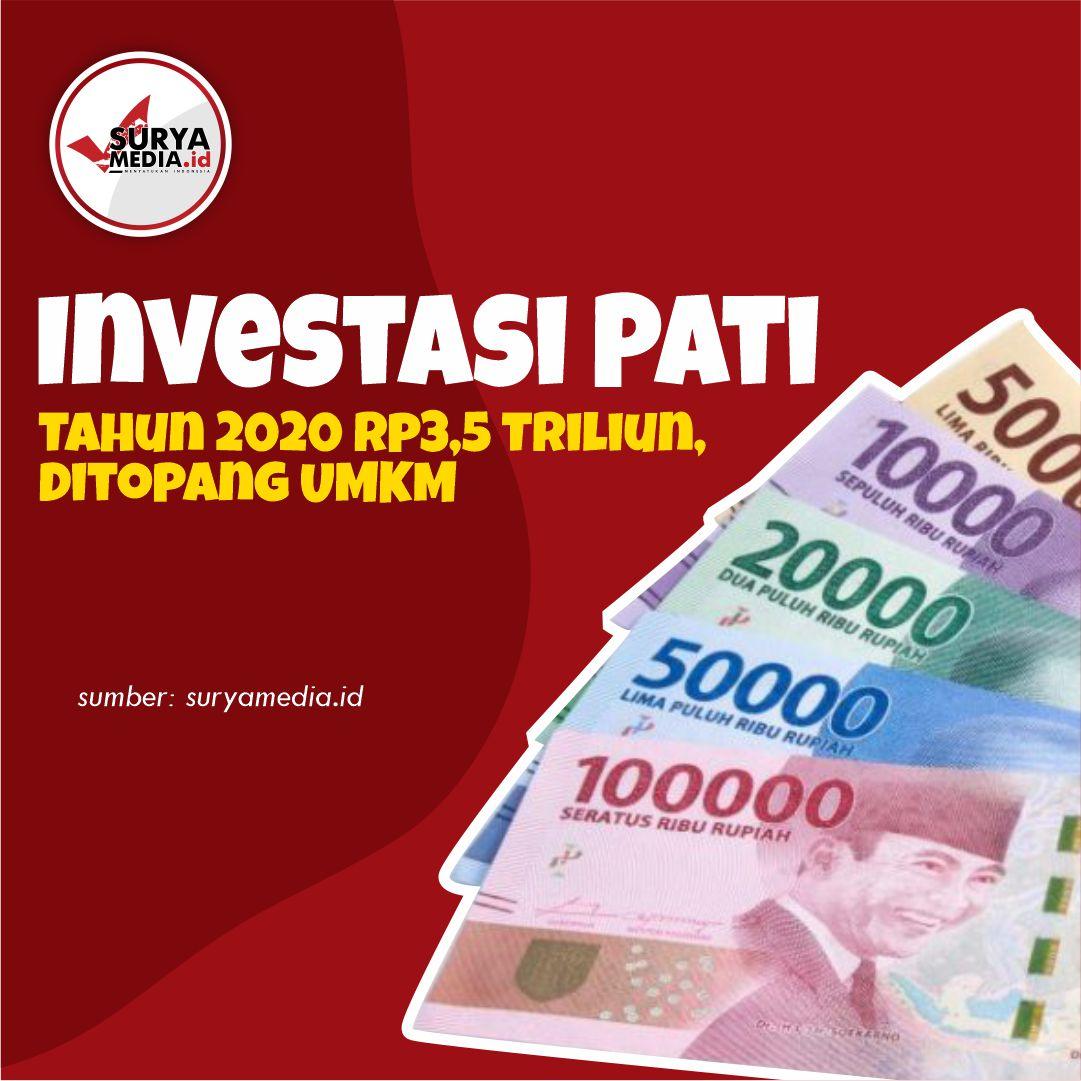 Investasi Pati Tahun 2020 Rp3,5 Triliun, Ditopang UMKM A