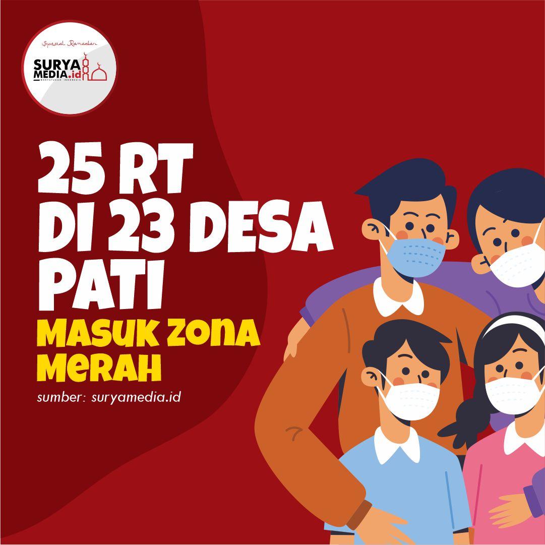 25 RT di 23 Desa Pati Masuk Zona Merah A
