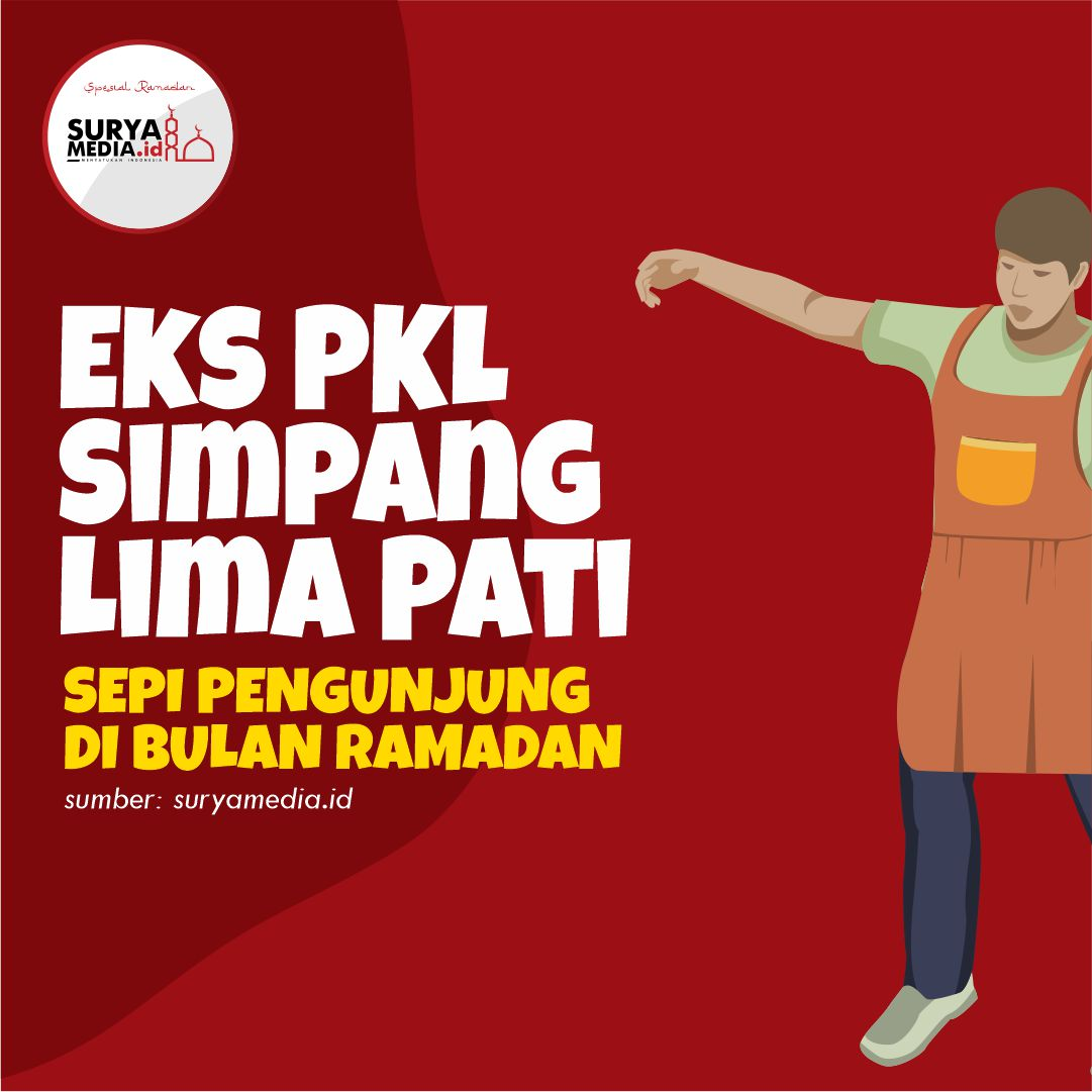 Eks PKL Simpang Lima Pati, Sepi Pengunjung di Bulan Ramadan A