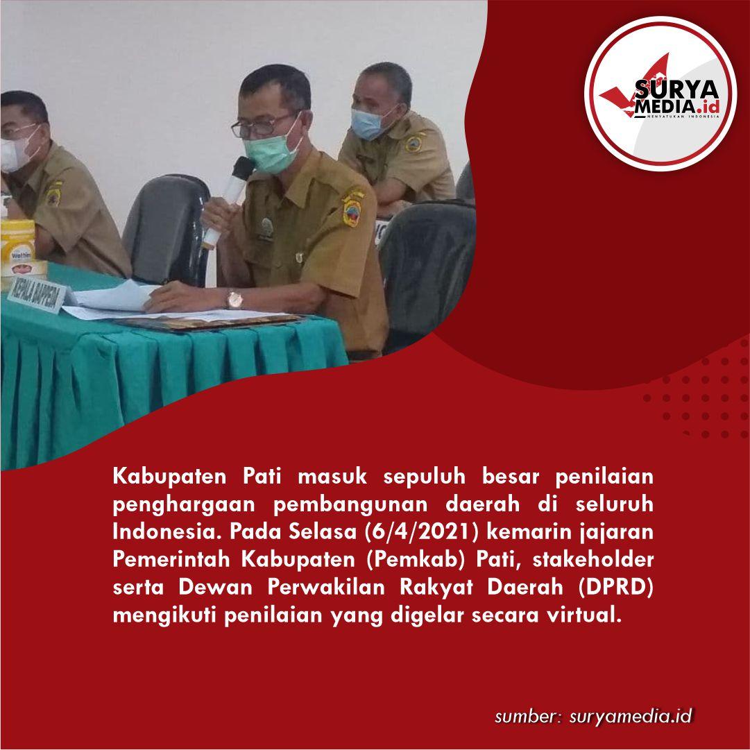 Penilaian Penghargaan Pembangunan se-Indonesia, Dewan Pati Sampaikan 4 Peranan B