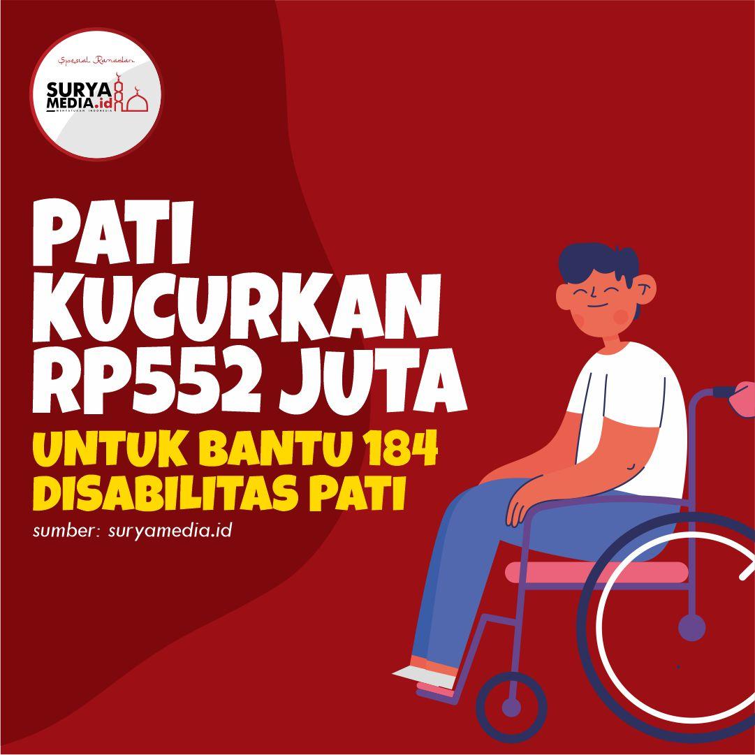 Pati Kucurkan Rp552 Juta untuk Bantu 184 Disabilitas Pati A