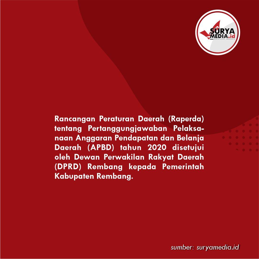 Laporan APBD 2020 Pemkab Rembang Disetujui B