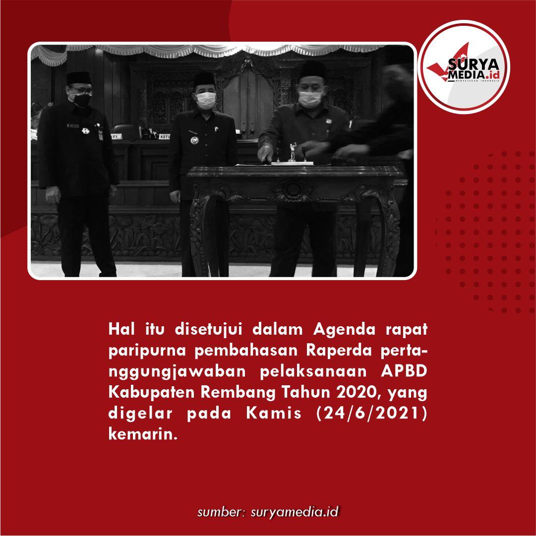 Laporan APBD 2020 Pemkab Rembang Disetujui C