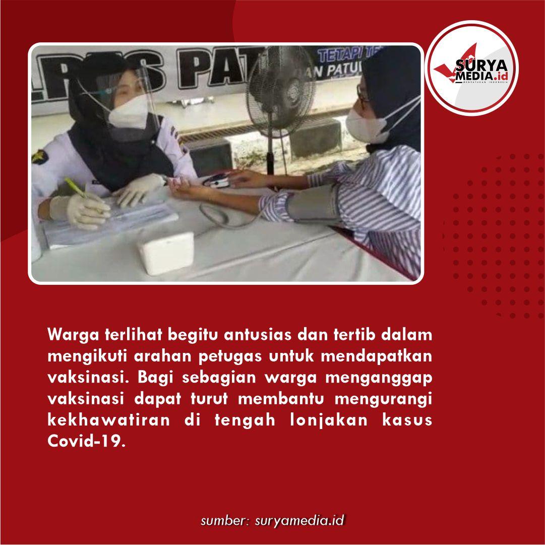 TNI-Polri Gelar Vaksinasi Massal 6 Hari di Stadion Joyokusumo Pati, Sasar Ribuan Warga C