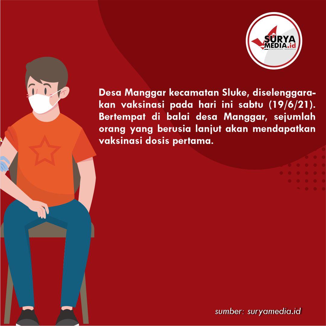 Vaksinasi di Kabupaten Rembang Baru Mencapai 51 Persen B
