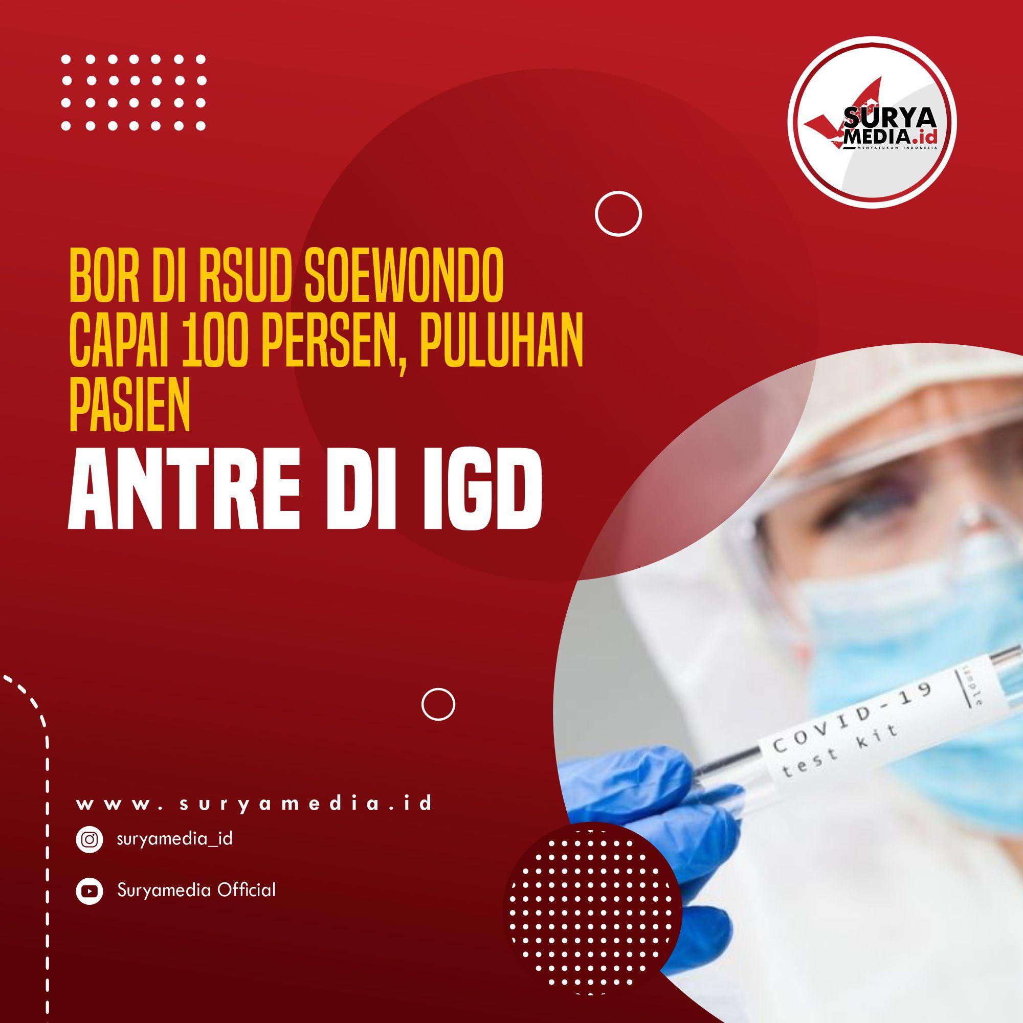 BOR di RSUD Soewondo Capai 100 Persen, Puluhan Pasien Antre di IGD A