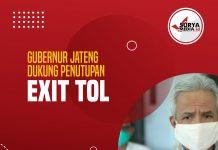 Gubernur Jateng Dukung Penutupan Exit Tol