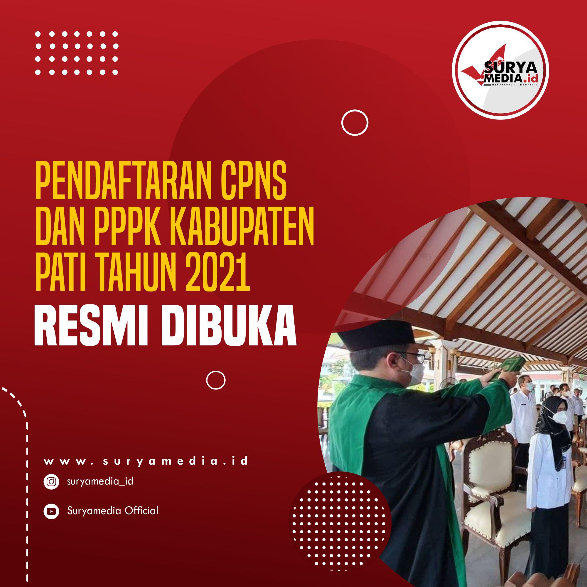 Pendaftaran CPNS dan PPPK Kabupaten Pati Tahun 2021 Resmi Dibuka A
