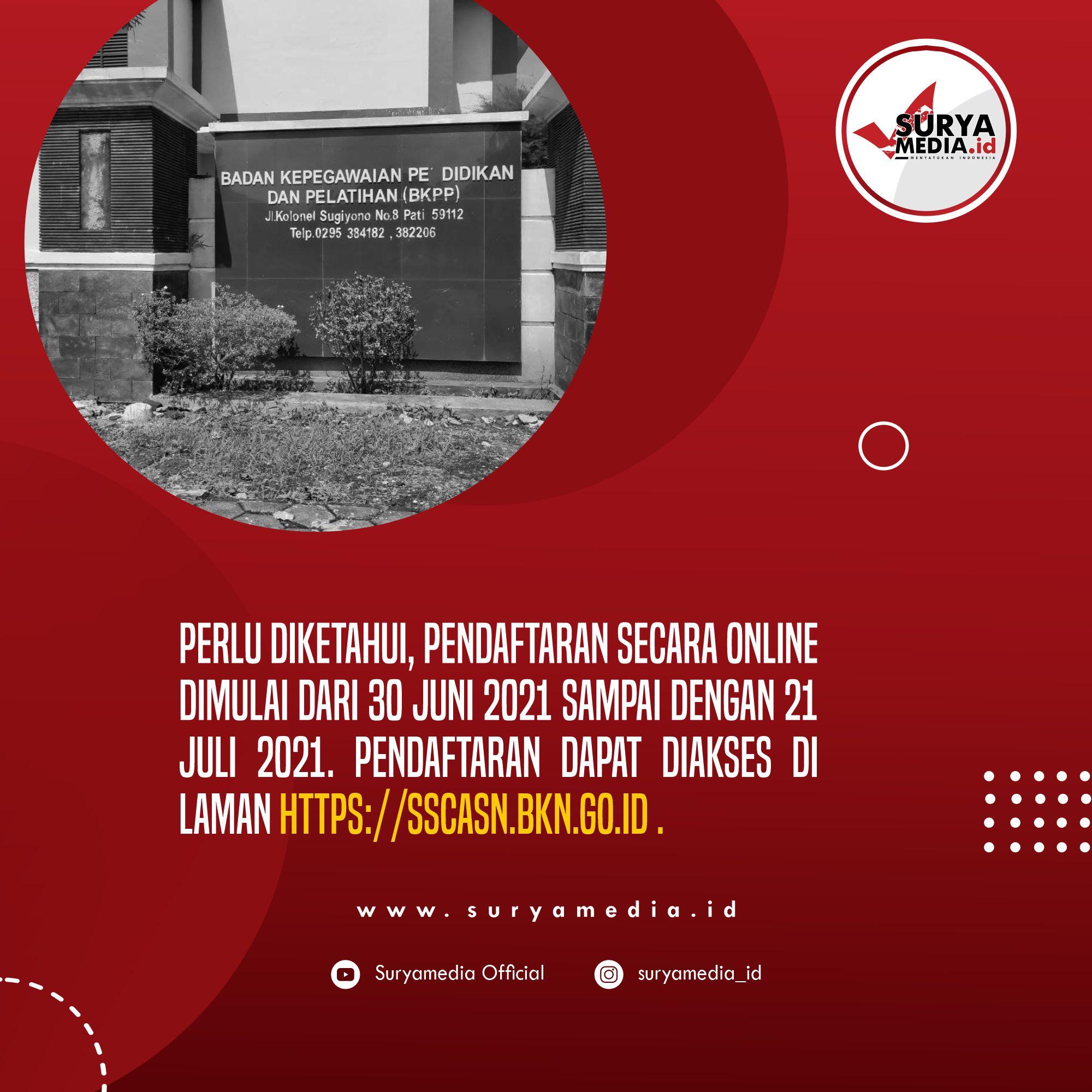 Pendaftaran CPNS dan PPPK Kabupaten Pati Tahun 2021 Resmi Dibuka C