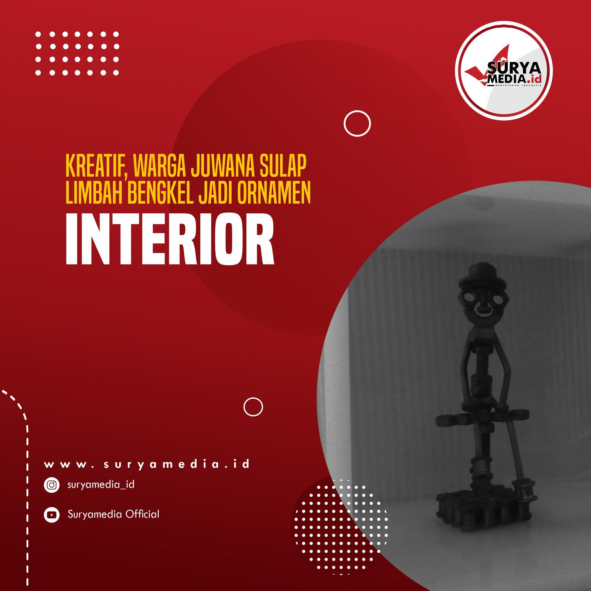 Kreatif, Warga Juwana Sulap Limbah Bengkel Jadi Ornamen Interior A