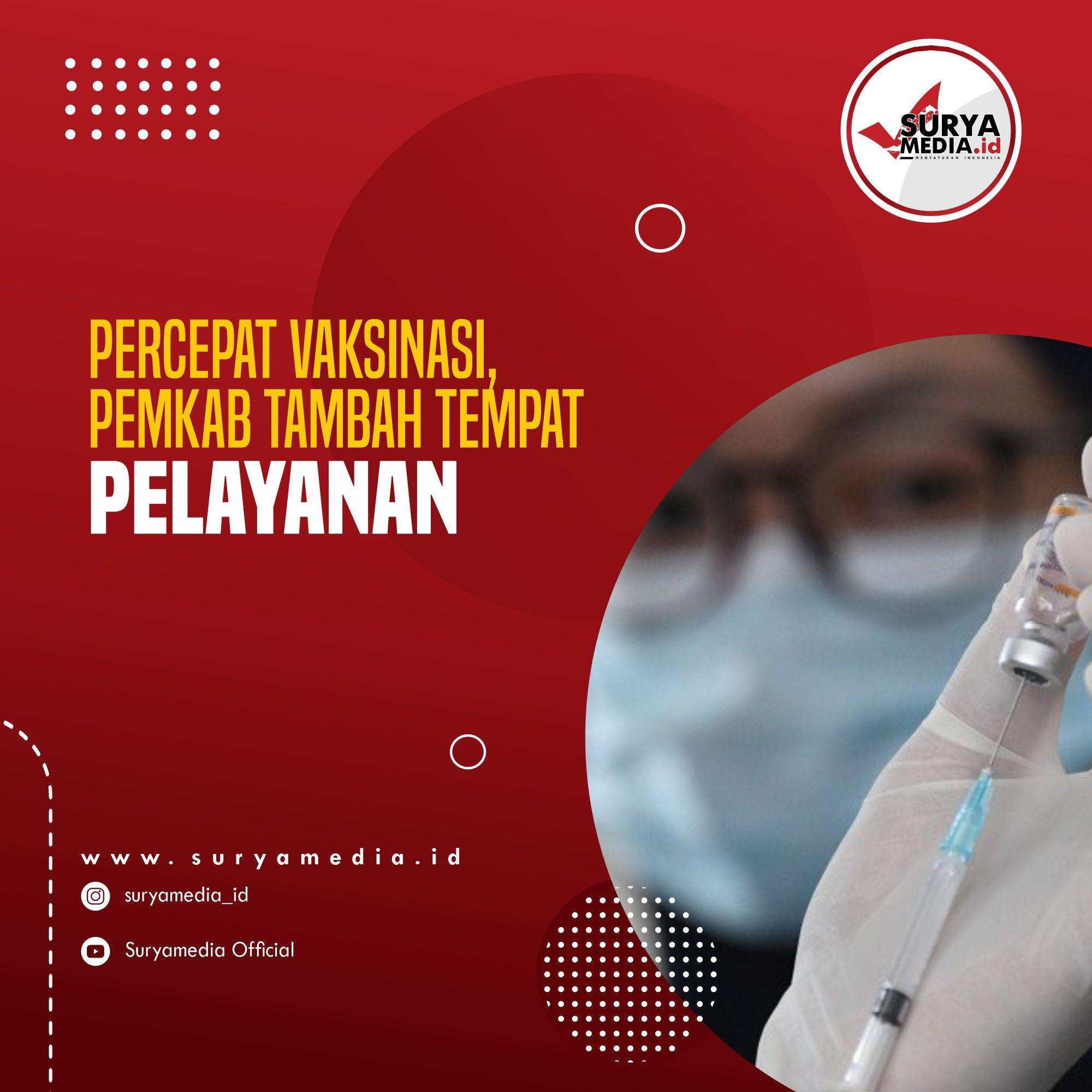 Percepat Vaksinasi, Pemkab Tambah Tempat Pelayanan A