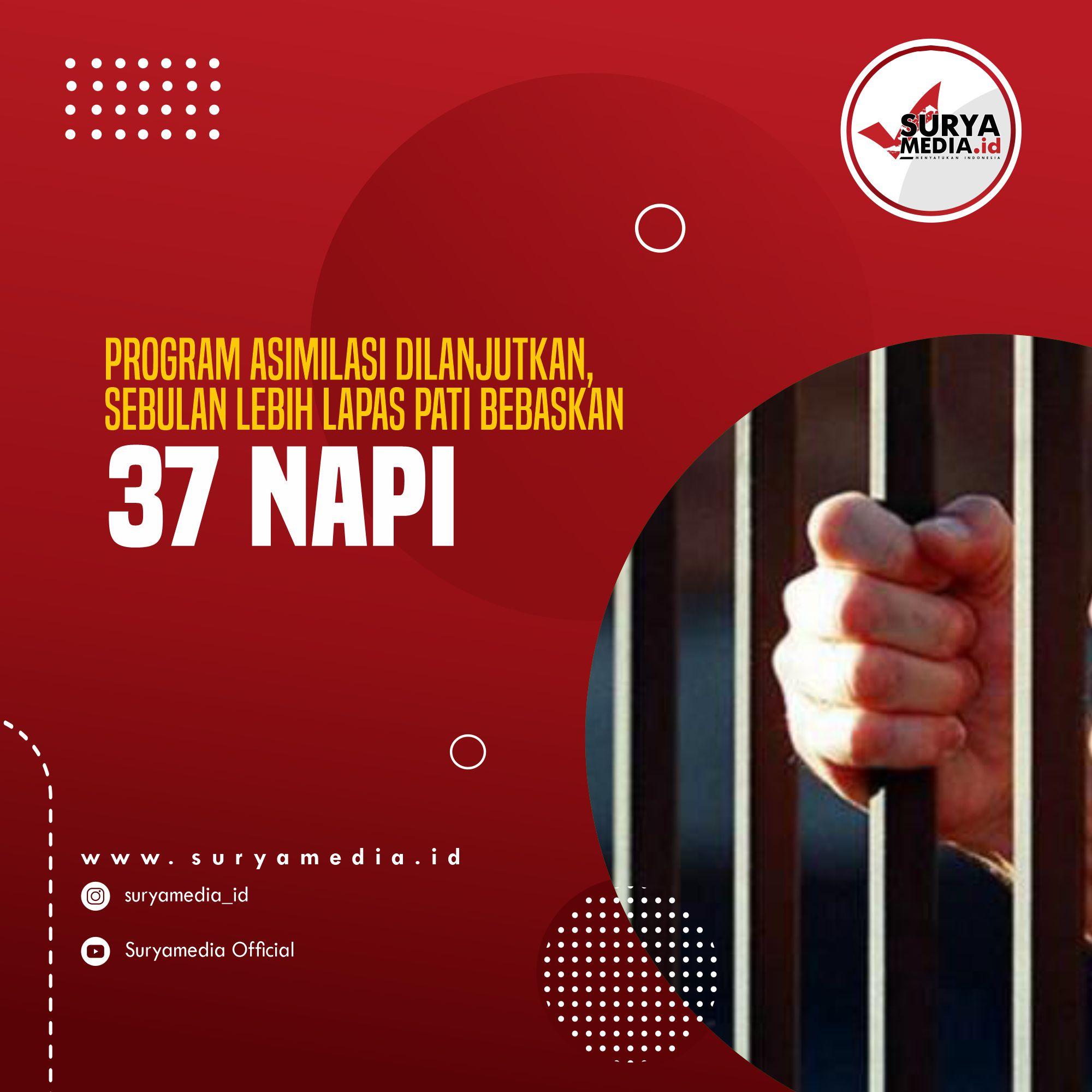 Program Asimilasi Dilanjutkan, Sebulan Lebih Lapas Pati Bebaskan 37 Napi A