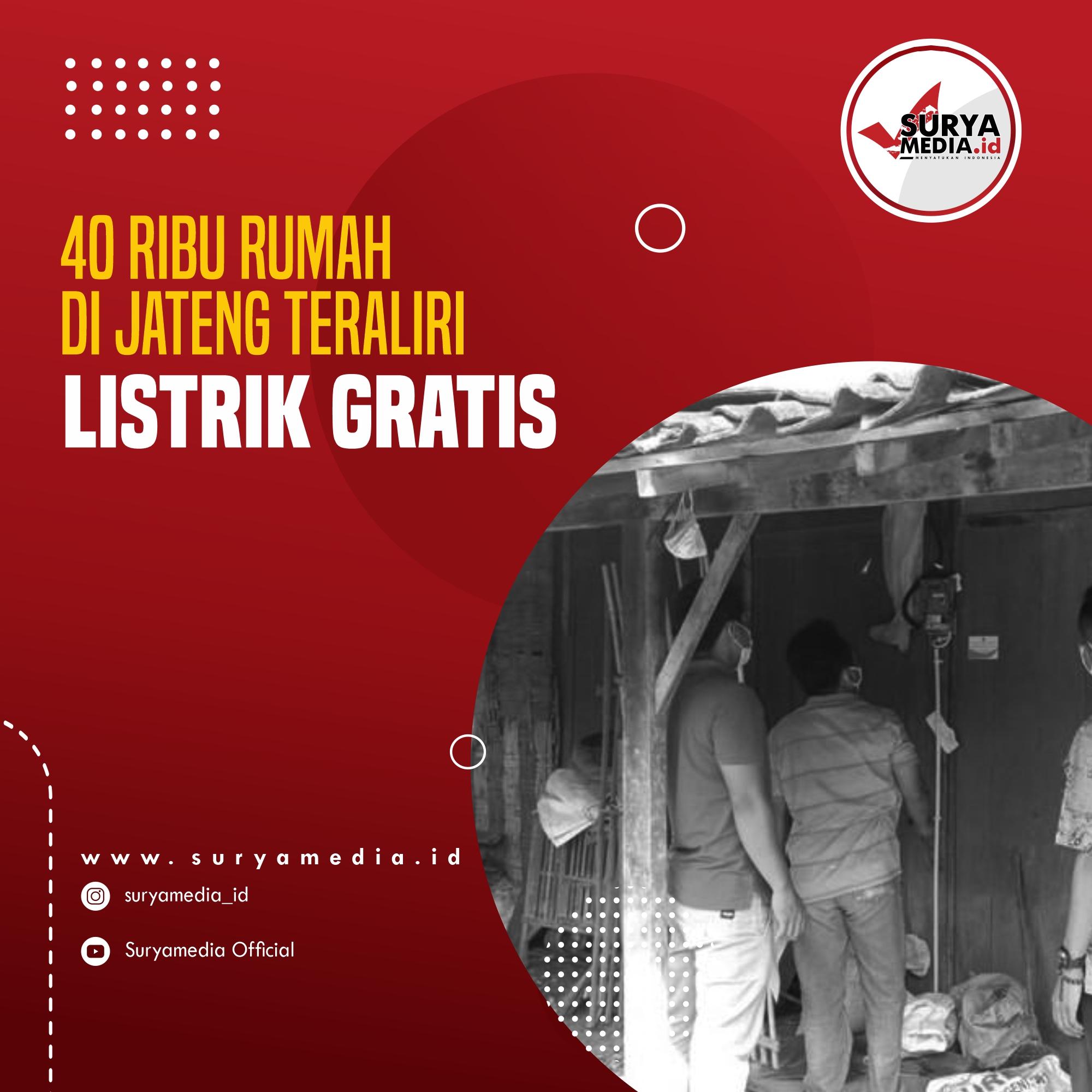 40 Ribu Rumah di Jateng Teraliri Listrik Gratis