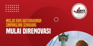 Masjid Raya Baiturrahman Simpanglima Semarang Mulai Direnovasi