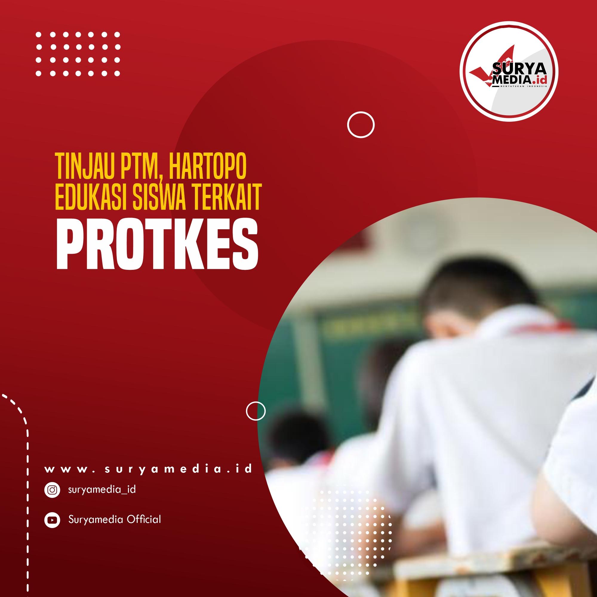 Tinjau PTM, Hartopo Edukasi Siswa Terkait Prokes