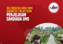 Bule Masuk Bali Harus Punya Asuransi Rp 1 Miliar, Begini Penjelasan Sandiaga Uno