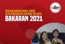 Kenalkan Warisan Budaya, Pemdes Gelar Pemilihan Mas dan Mbak Duta Batik Bakaran 2021