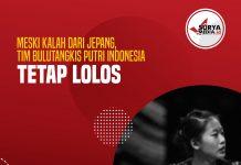 Meski Kalah dari Jepang, Tim Bulutangkis Putri Indonesia Tetap Lolos