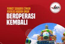 Pemkot Surabaya Izinkan Rekreasi Hiburan Umum Beroperasi Kembali