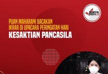 Puan Maharani Bacakan Ikrar di Upacara Peringatan Hari Kesaktian Pancasila
