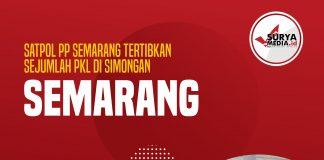 Satpol PP Semarang Tertibkan Sejumlah PKL di Simongan Semarang