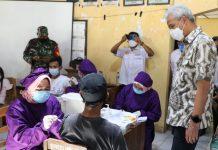 Ganjar Dorong Percepatan Vaksinasi di Grobogan
